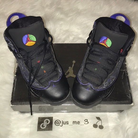 outlet store a2066 ff6b4 Jordan 6 Rings Black/Purple Boys PS 3Y